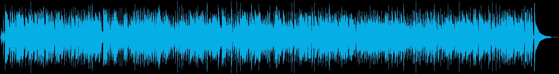 ゆったりしたジャズBGMの再生済みの波形