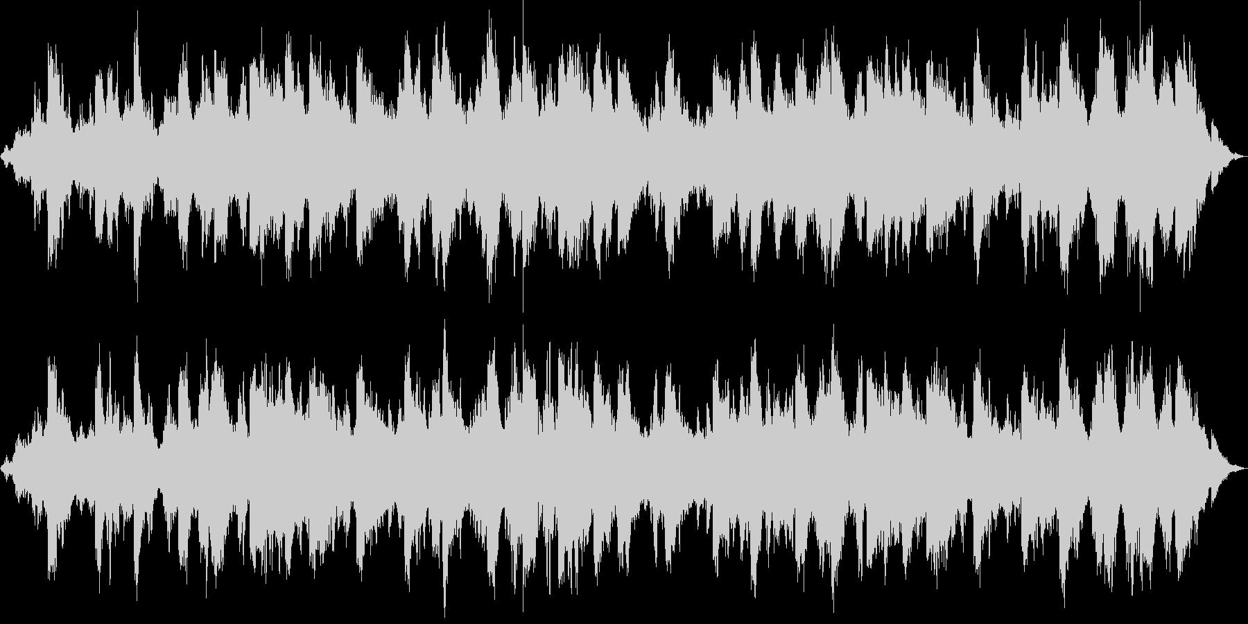 宇宙的で平和的なアンビエント_波の音入りの未再生の波形