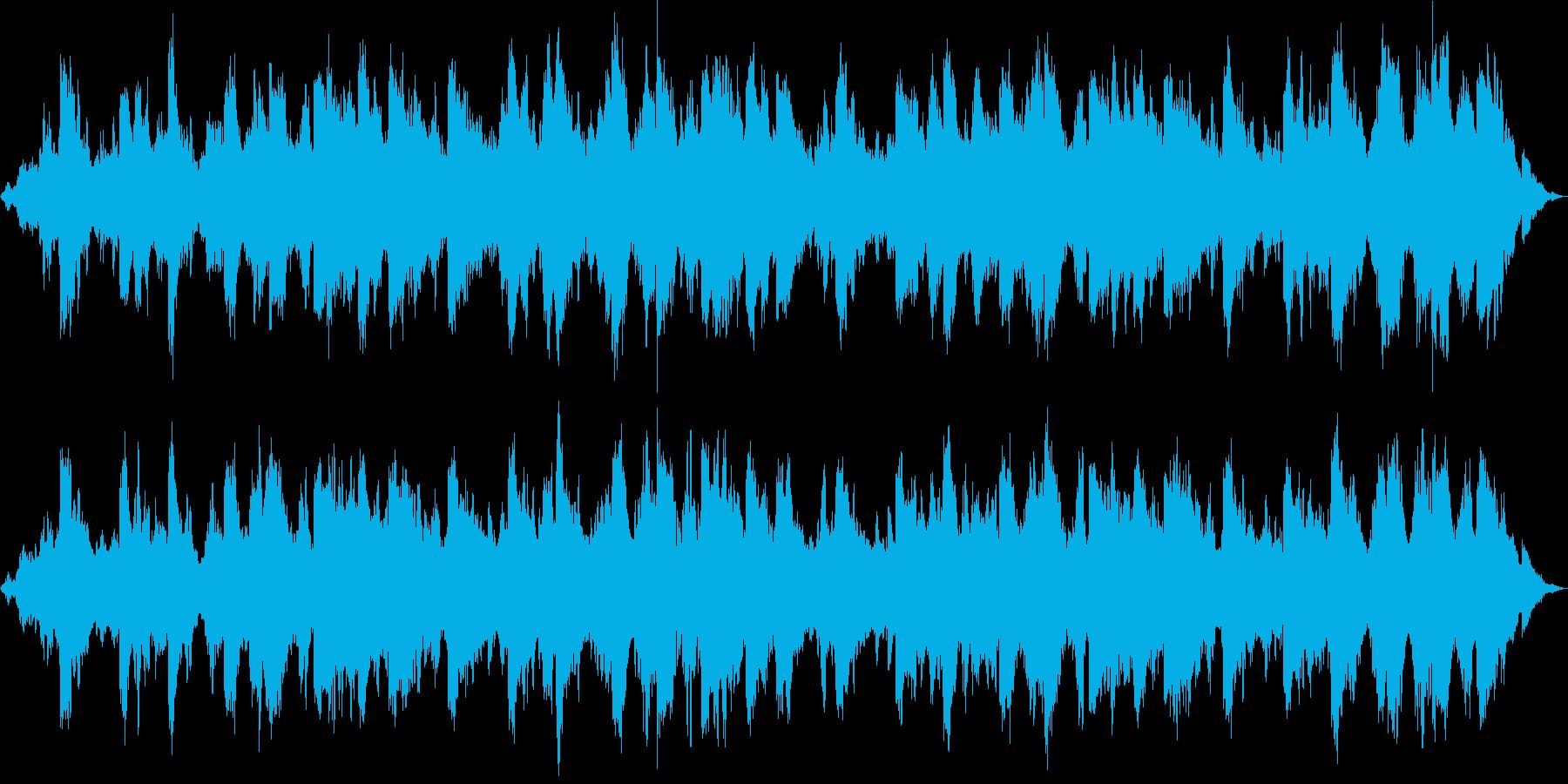 宇宙的で平和的なアンビエント_波の音入りの再生済みの波形
