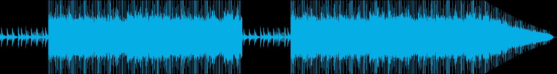 ピアノとシンセの不安で静かなLofiの再生済みの波形
