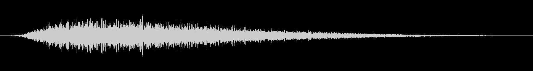 リバーブ付きブラストリバーススティンガーの未再生の波形