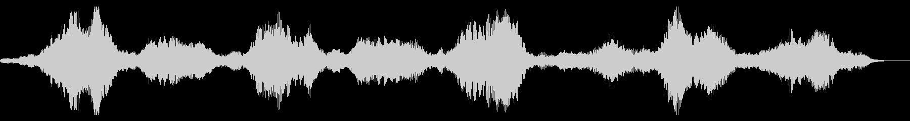 不気味な振動の未再生の波形