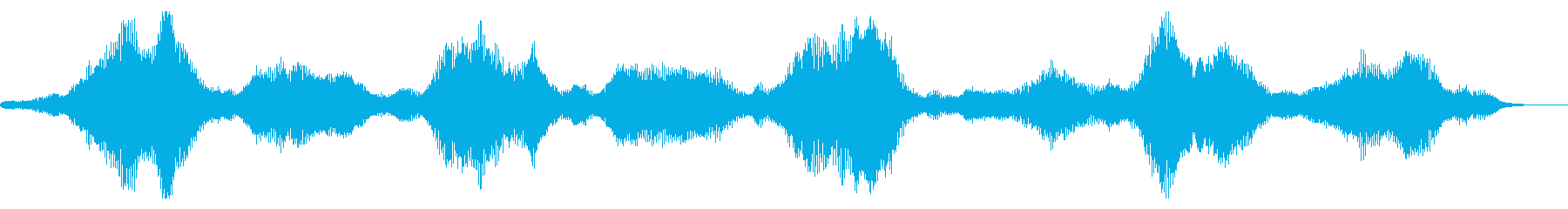 不気味な振動の再生済みの波形