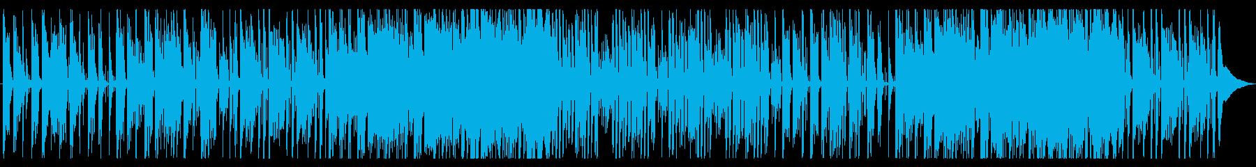 森や小動物を思わせる、ほのぼのとした曲の再生済みの波形