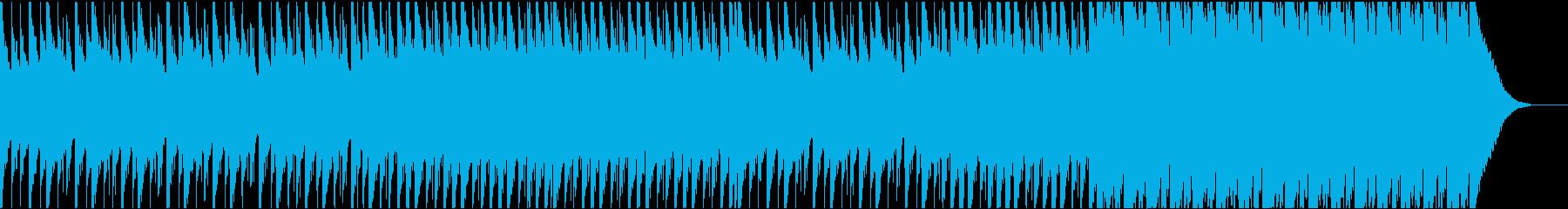 声素材なし版 無機質なミニマルトラックの再生済みの波形
