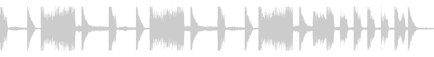 得点表示など向けのポップなループの未再生の波形