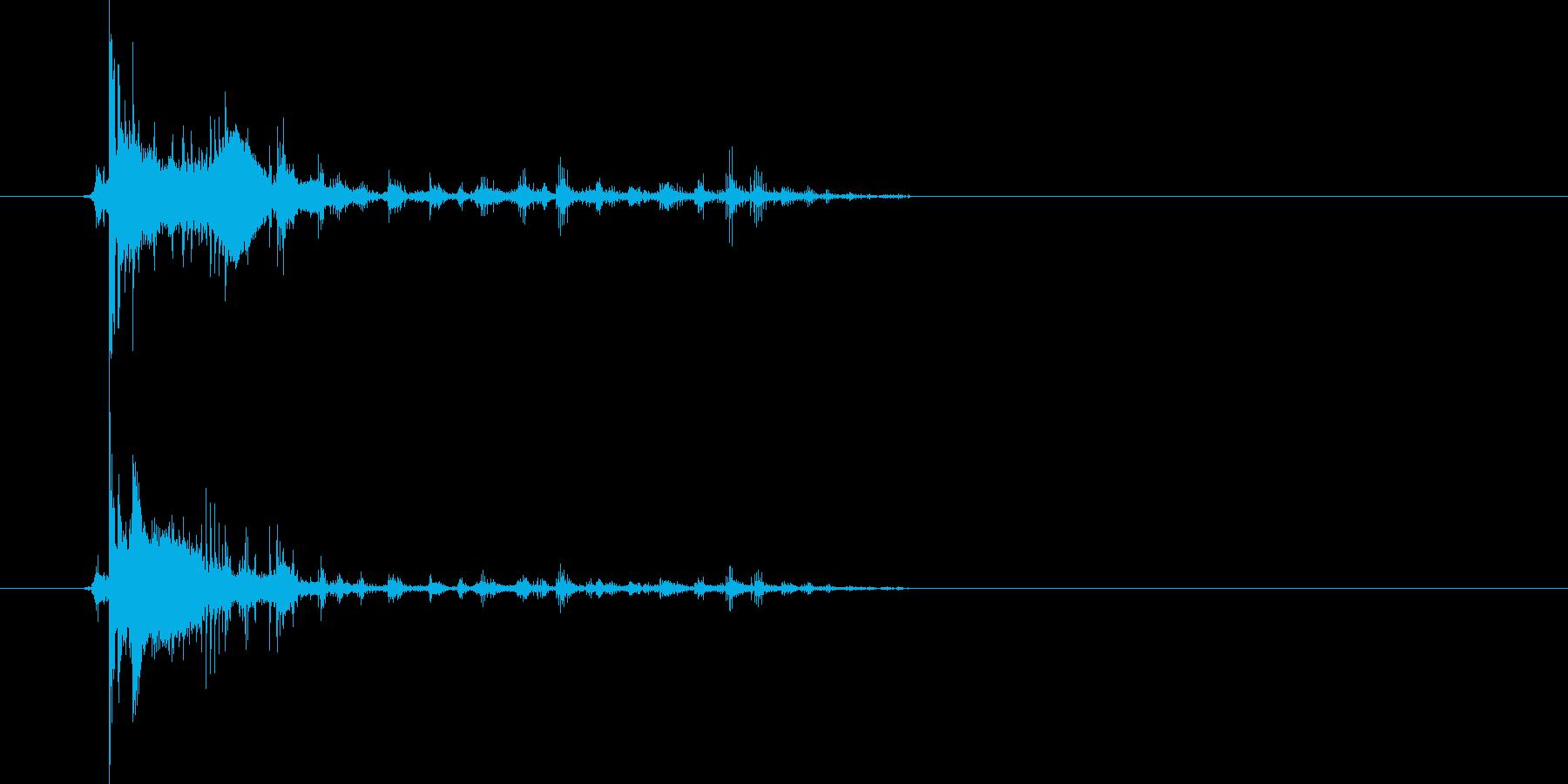 ジャリーーン!コロコロ…長めに転がる音の再生済みの波形