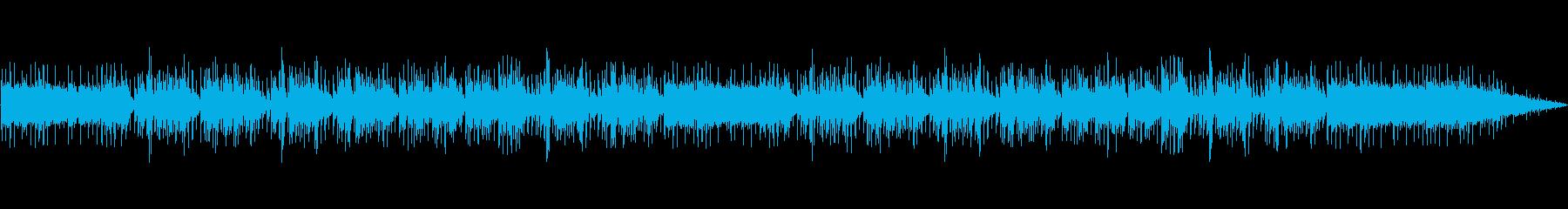ほのぼのとしたアコースティック曲の再生済みの波形