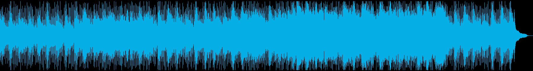 モダンな暖かいアコースティック曲シンセ抜の再生済みの波形