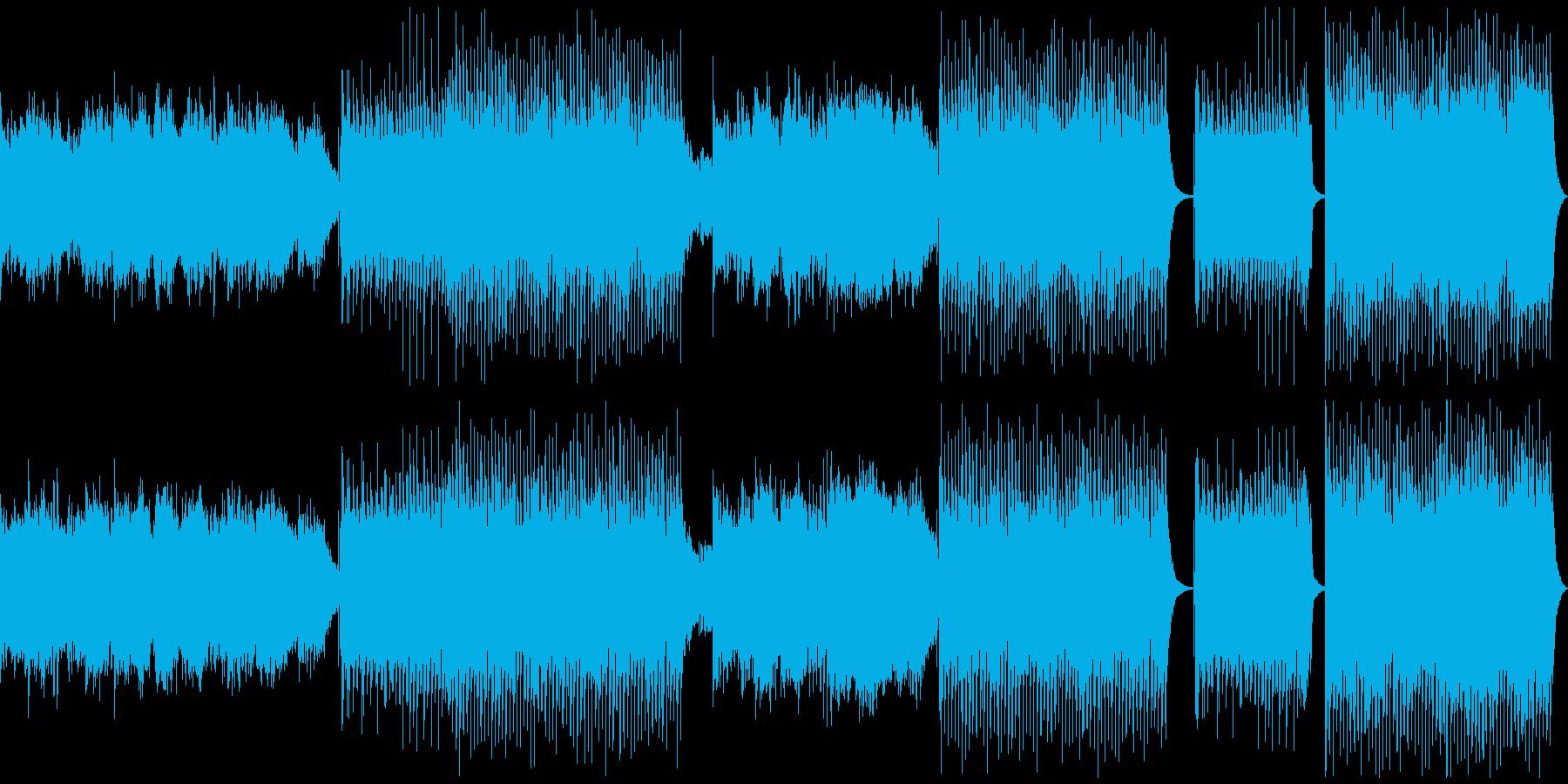 フェスのオープニングで流れるEDMの再生済みの波形