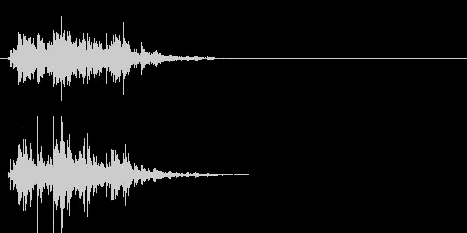 ブリリアントなウィンドチャイムの未再生の波形