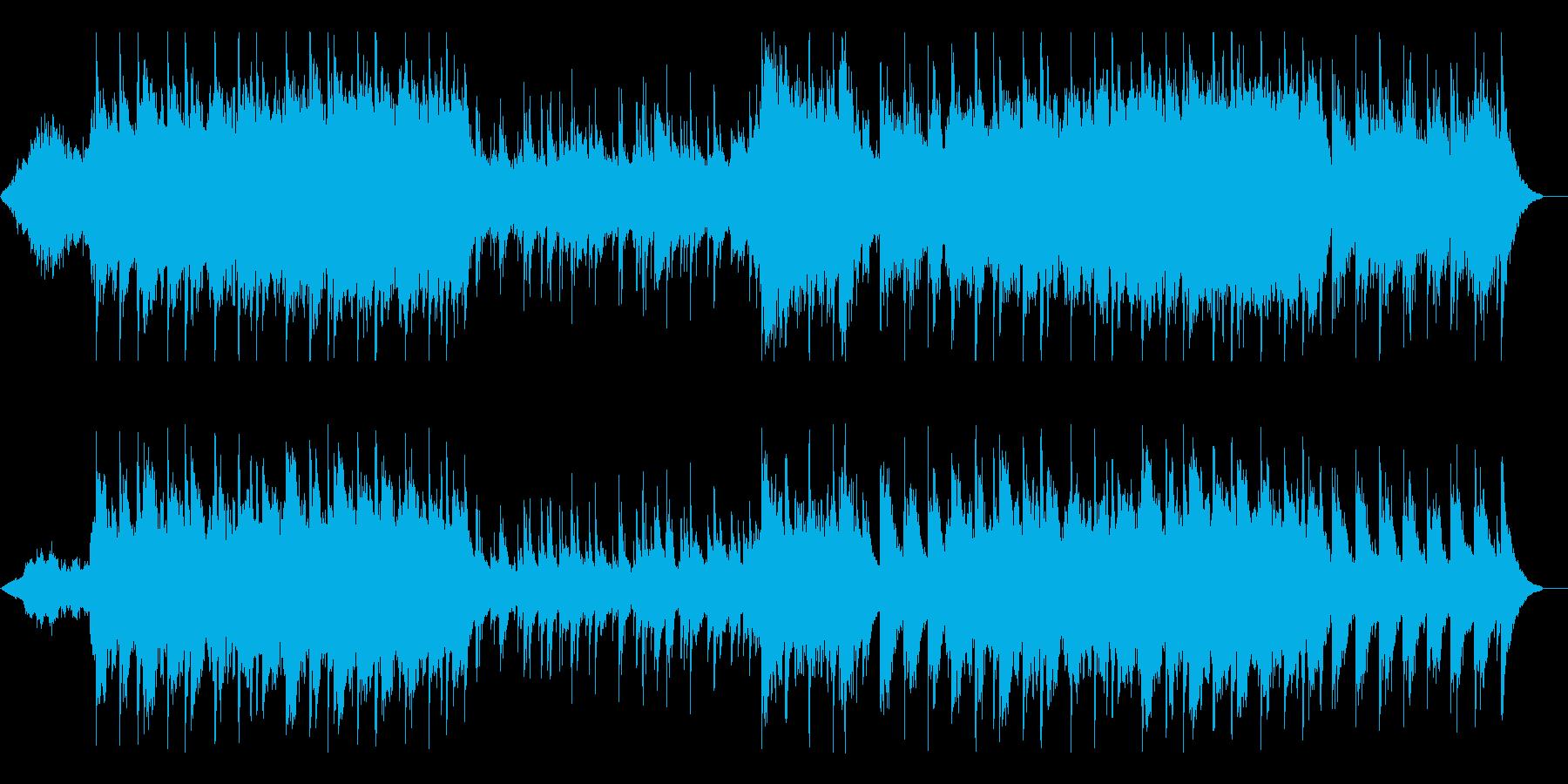 叙情的で落ち着きのあるBGMの再生済みの波形