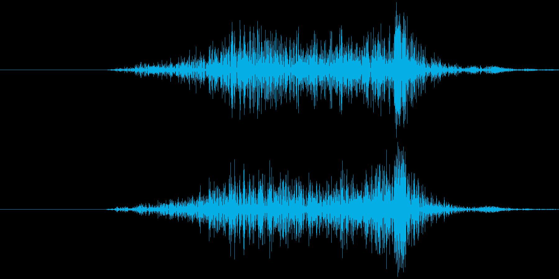 ハサミ 切る (シャタッ) の再生済みの波形