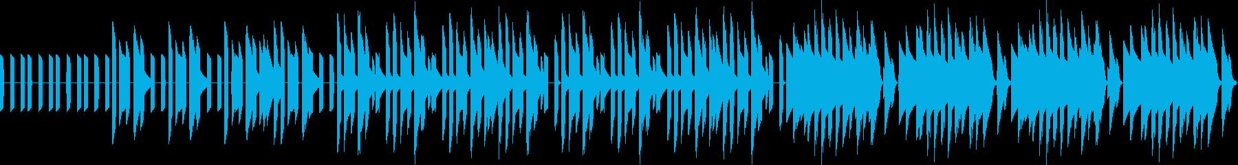 RPGのフィールド曲の再生済みの波形