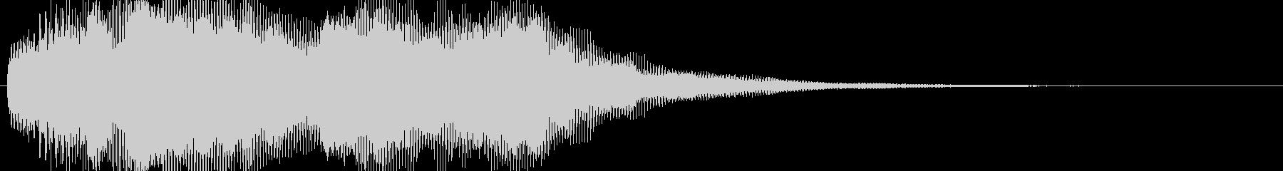 微かに聞こえる叫び声 ホラーの未再生の波形