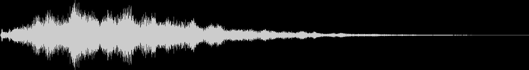 シネマティック サウンドロゴ クール系の未再生の波形