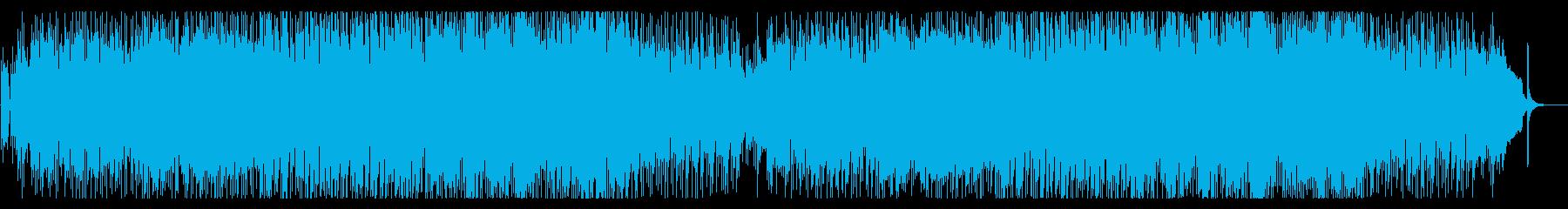 和洋折衷。和と洋の楽器を使ったお祭り曲の再生済みの波形