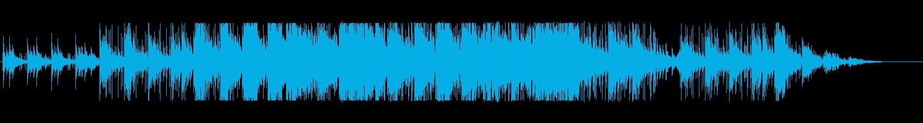 和風ホラー、サスペンス向けBGMの再生済みの波形