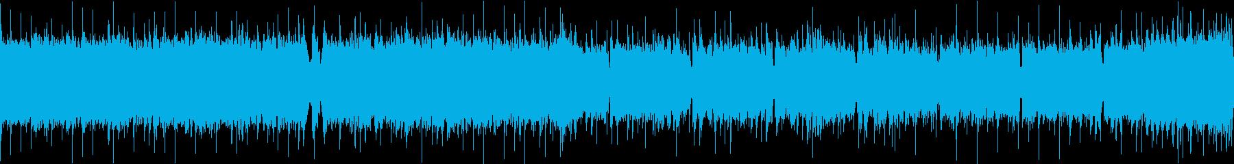 疾走感のあるエレキギター生演奏ロックの再生済みの波形