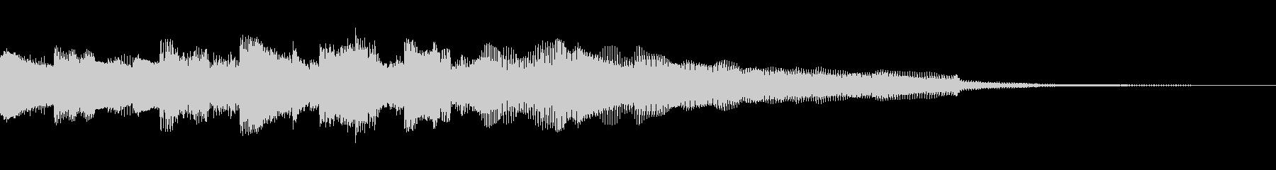 不気味で浮遊感のあるエレピのジングルの未再生の波形