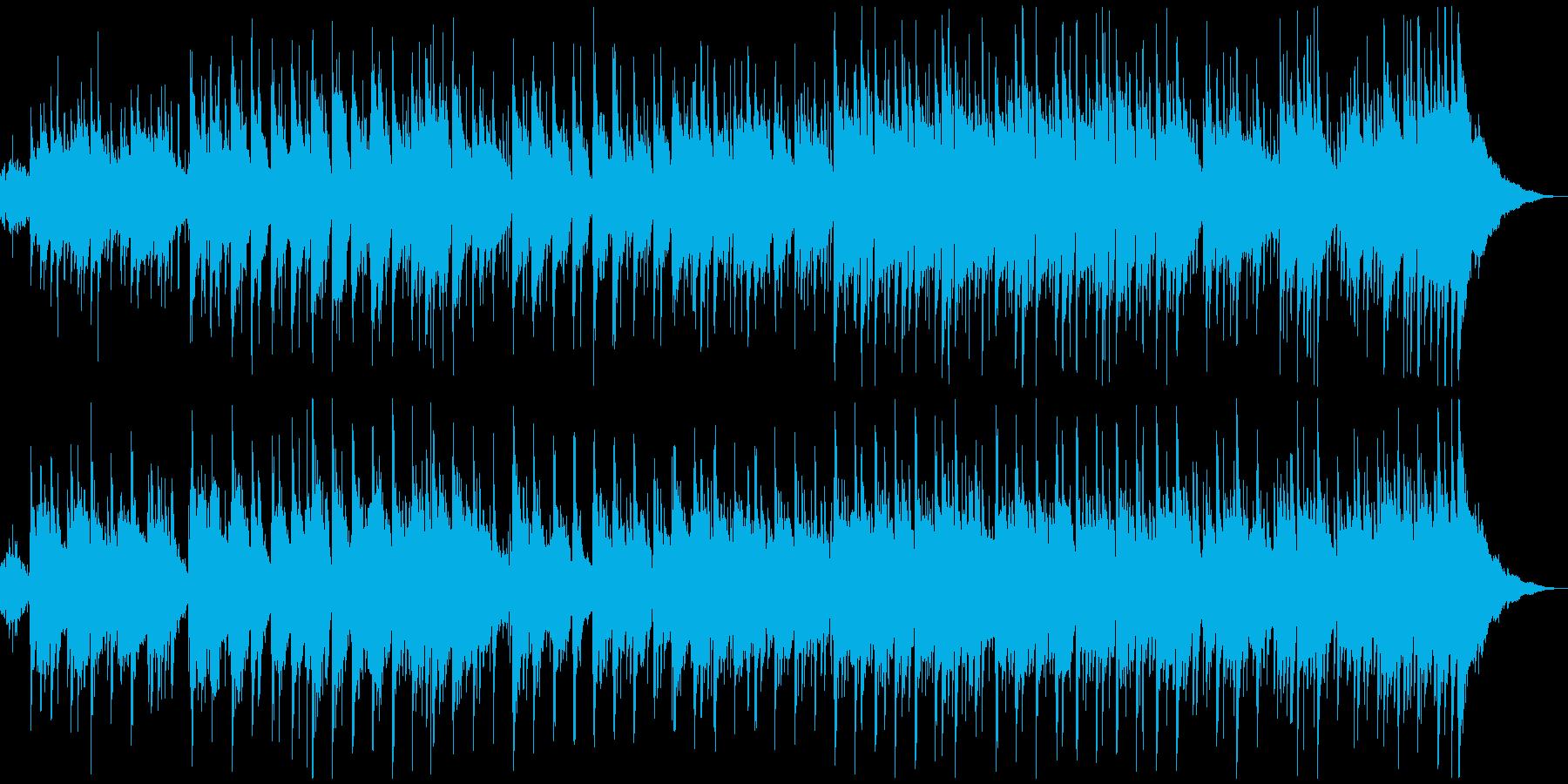 アコースティックなギターサウンドの再生済みの波形