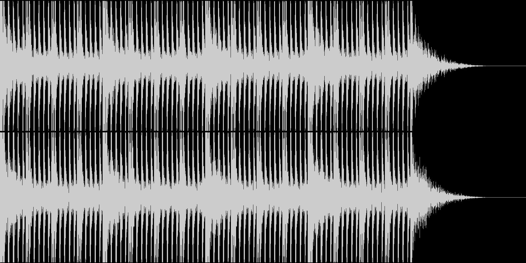 大作映画の予告編的な打楽器リズム2の未再生の波形