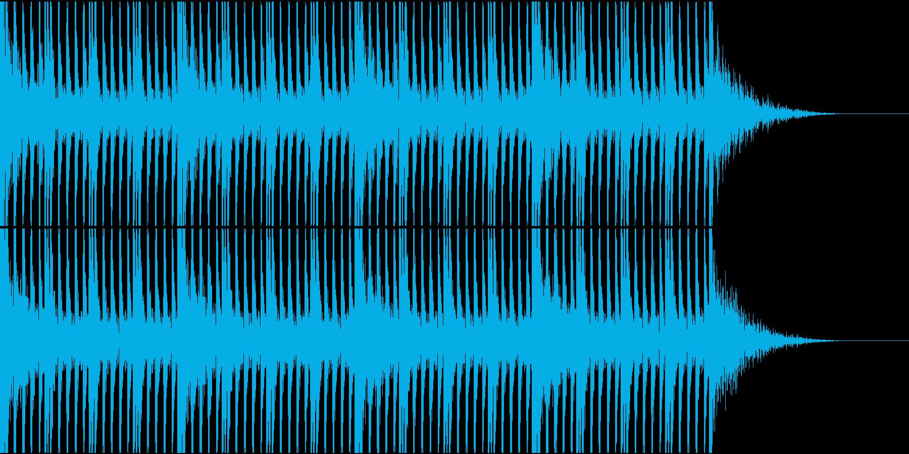 大作映画の予告編的な打楽器リズム2の再生済みの波形