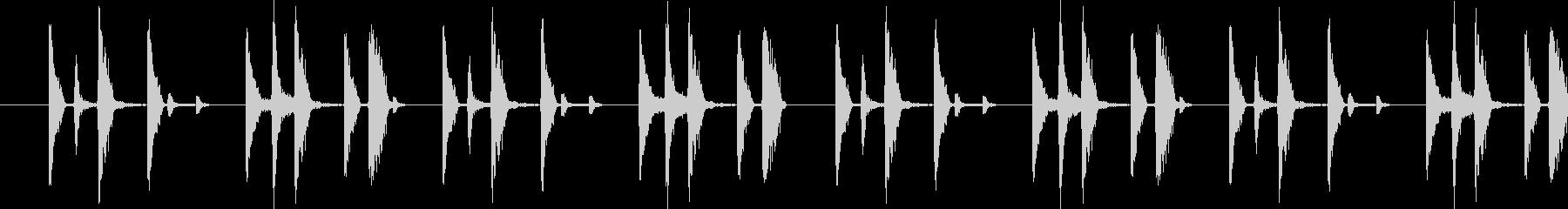 ドラムの音の未再生の波形