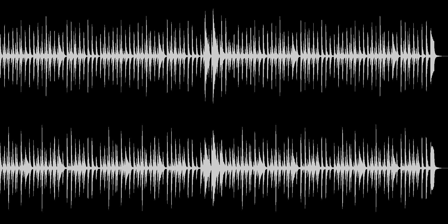 童謡「あめふり」シンプルなピアノソロの未再生の波形