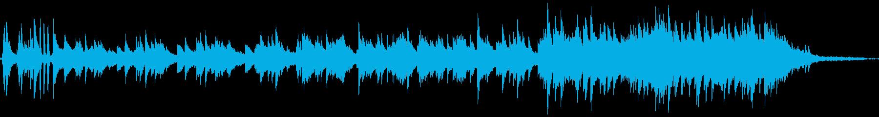 落ち着いてちょっぴりエモいピアノソロ曲の再生済みの波形