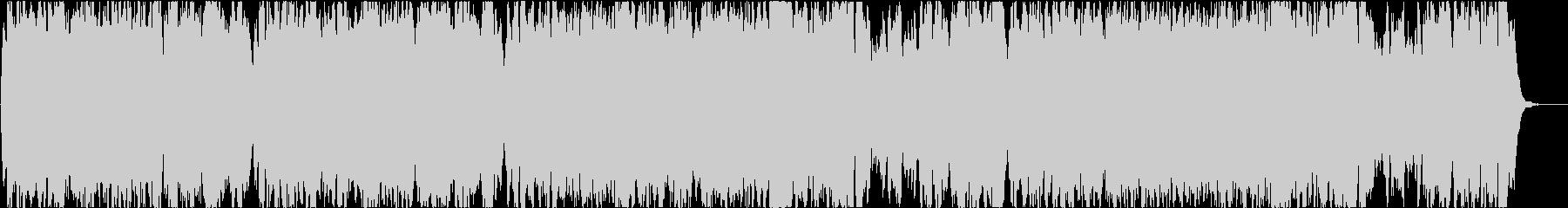 バッハの曲のクラシックアレンジの未再生の波形