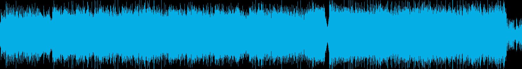 スピード感に満ちたメタルインストループの再生済みの波形