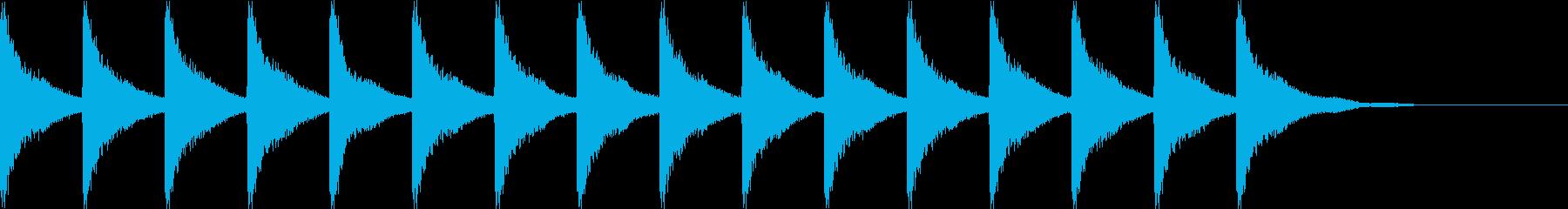 カーンカーンカーンの再生済みの波形