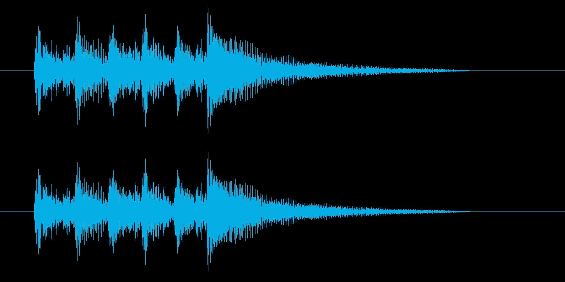 印象深いシーンの場面転換に最適なアコギ曲の再生済みの波形
