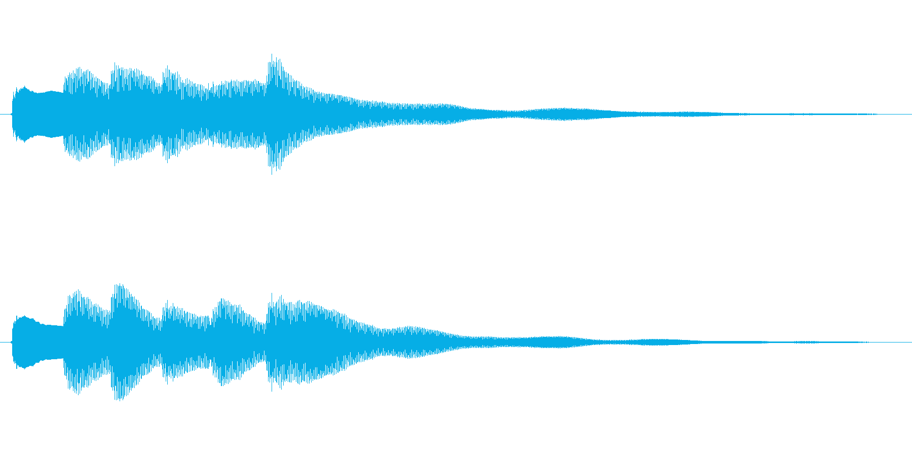 クイズで正解した時などに使われる効果音…の再生済みの波形