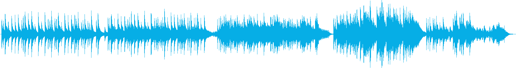 琴で奏でるシンプルで和風ほっこりメロディの再生済みの波形