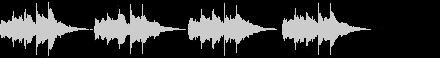 オーソドックスメロディアス着信音5の未再生の波形