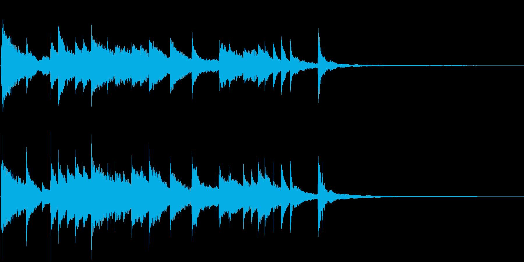 ゲームや動画のOP向け!ピアノのジングルの再生済みの波形