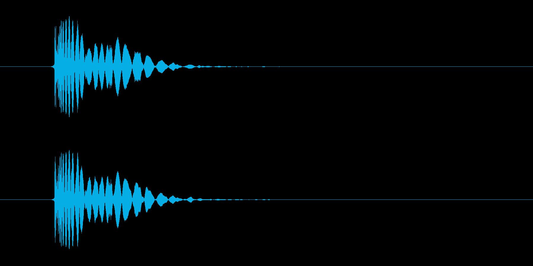 ヒット音(蹴る-8 打撃のインパクト音)の再生済みの波形
