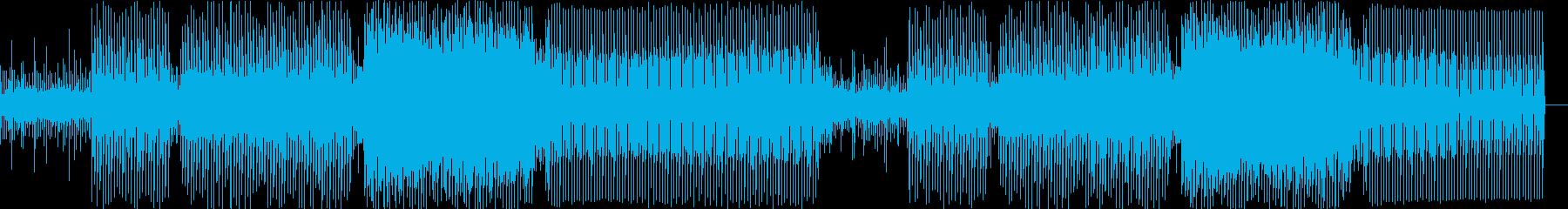 3連符のシーケンスと硬質なテクノの再生済みの波形