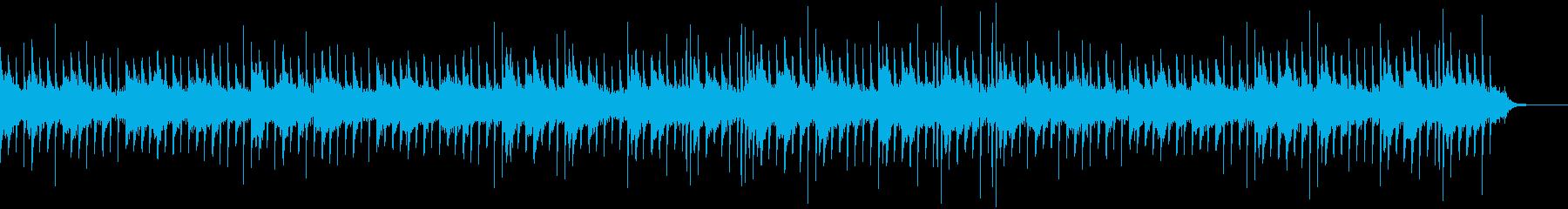 ホラーなピアノBGMの再生済みの波形