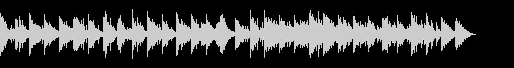 ピアノソロ/CM向け、透明で綺麗な水の未再生の波形
