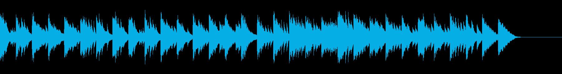 ピアノソロ/CM向け、透明で綺麗な水の再生済みの波形