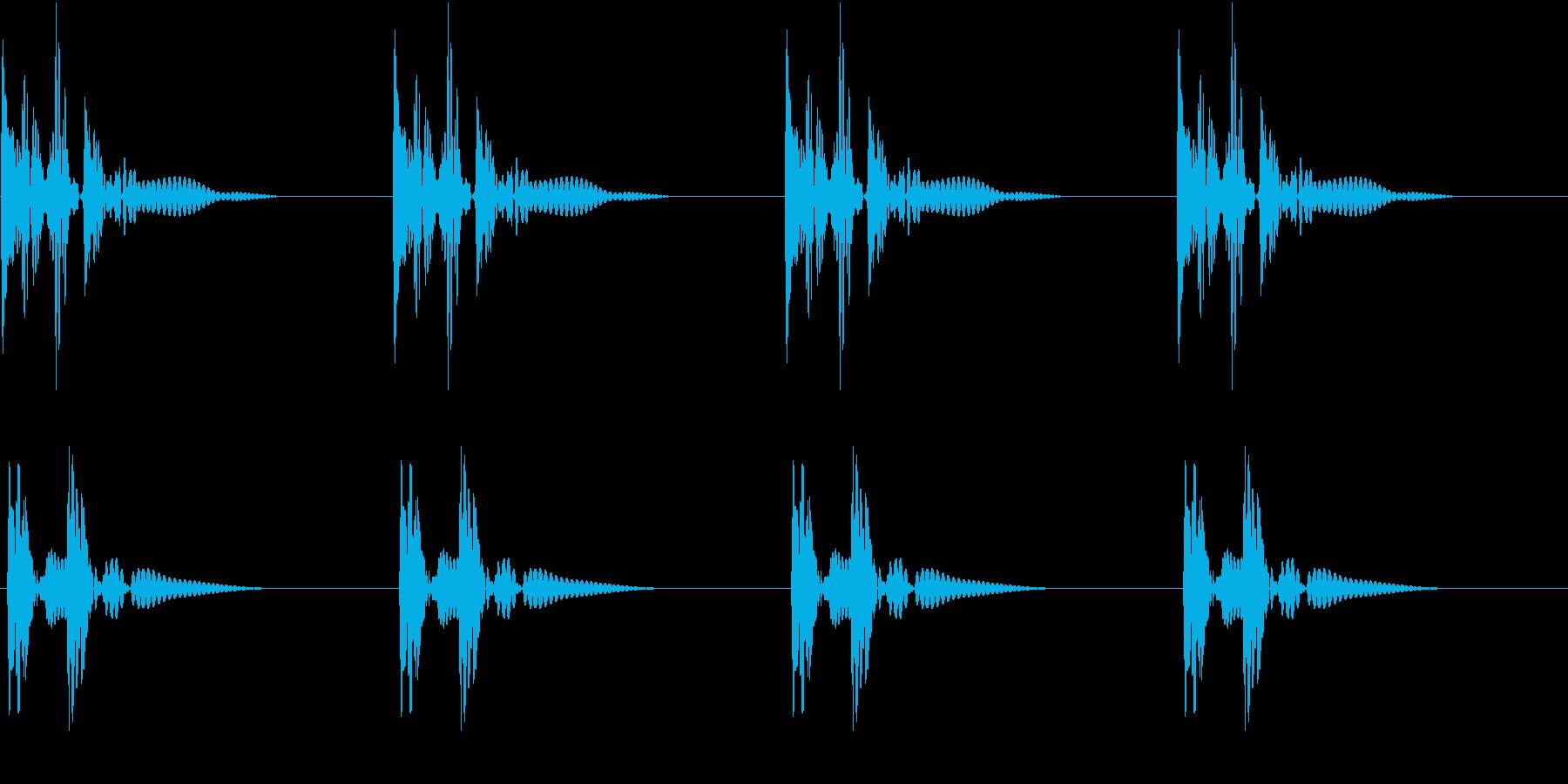 HeartBeat 心臓の音 7 ループの再生済みの波形