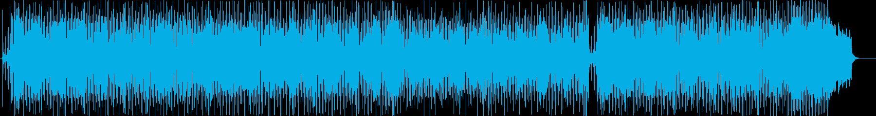 優しい尺八のメロディのフュージョンの再生済みの波形
