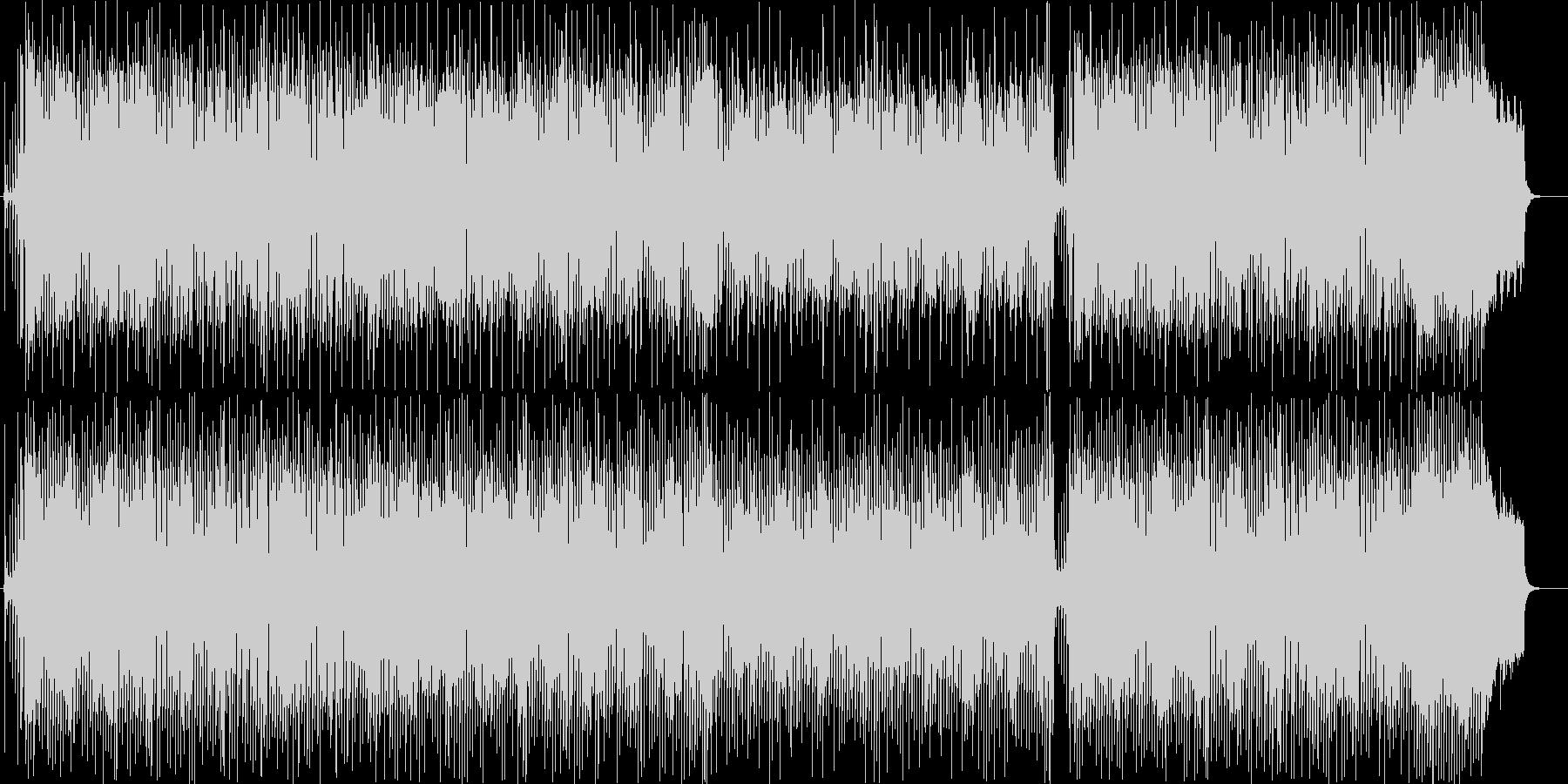 優しい尺八のメロディのフュージョンの未再生の波形
