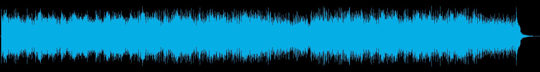 スピード感のある明るいテクノポップスの再生済みの波形