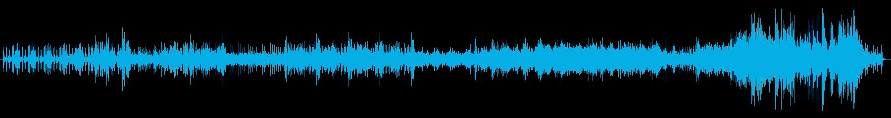 工業騒音で作った曲の再生済みの波形