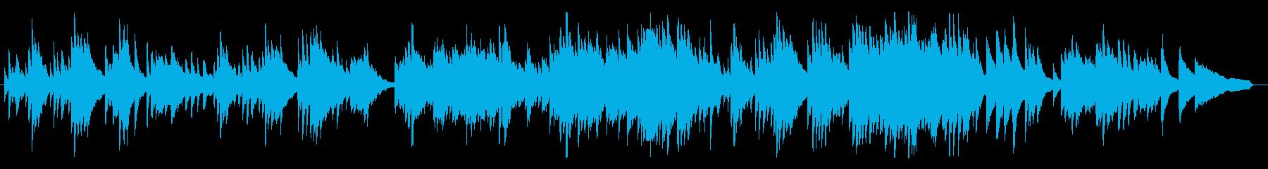 悲しく、叙情的なピアノBGMの再生済みの波形