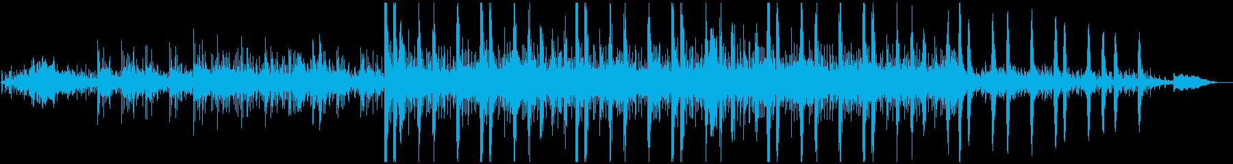 神秘的で独特なリズムのメロディーの再生済みの波形